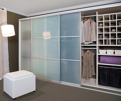 custom closet glass finish