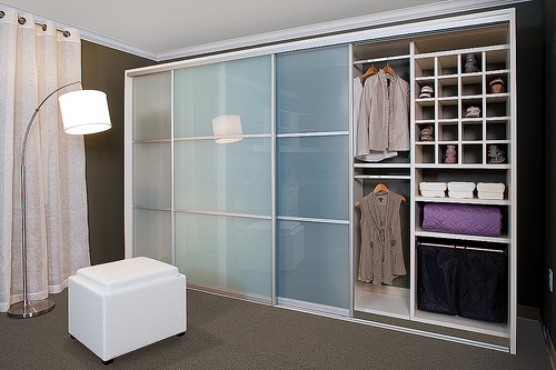 custom closet sliding doors