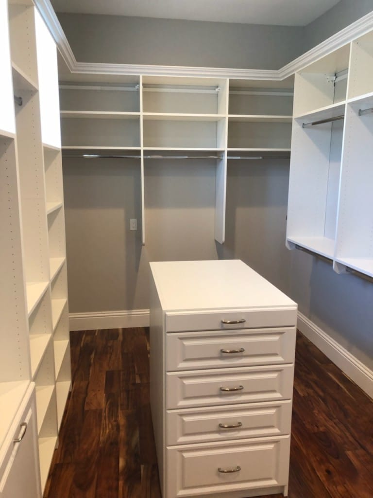 customized master walk-in closet in florida