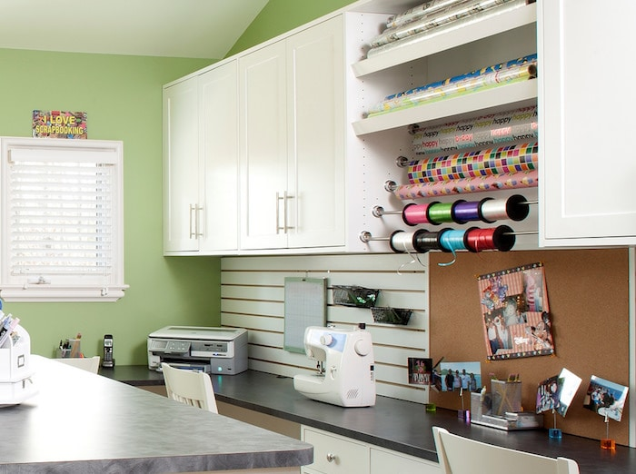 custom craft room storage system